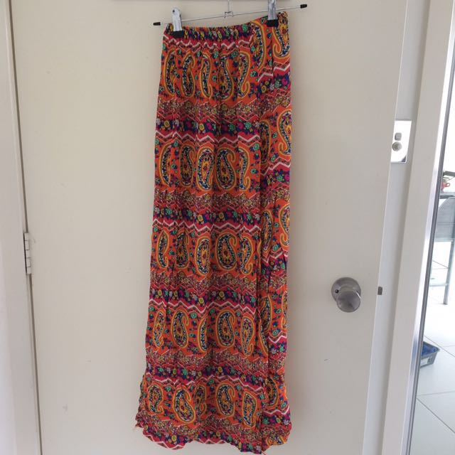 Halter top / maxi skirt set floral size XS - S