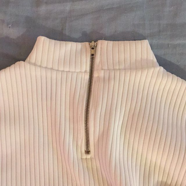High Necked White Top Large