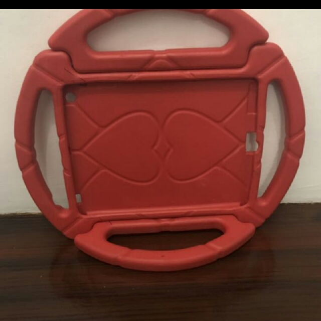 ipad 2/3 rubber case ( wheel type)
