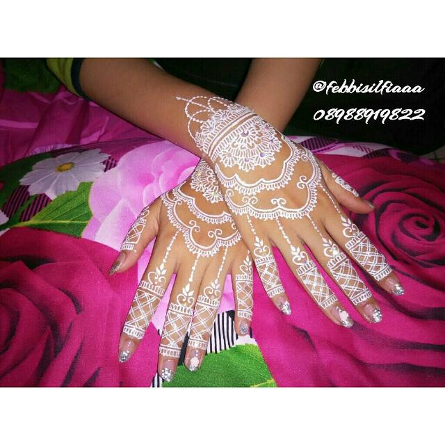 Jasa HENNA ART for Wedding/Wisuda/Party/Fun