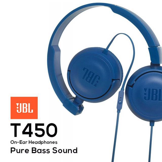 4adb7d45fd3 JBL T450 On Ear Headphone, Electronics, Audio on Carousell