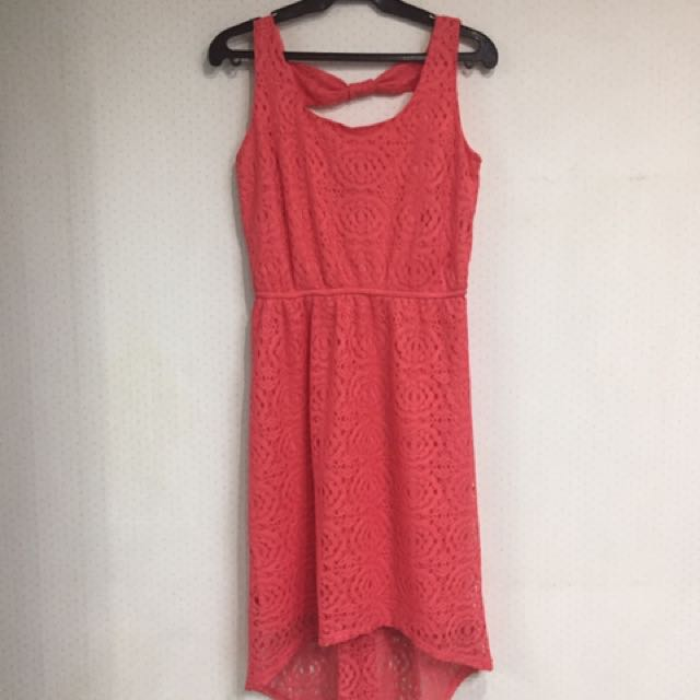 Lace Highlow Dress