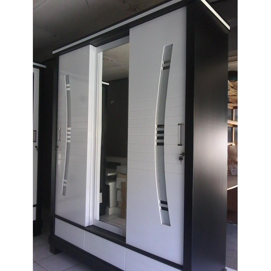 Inspirasi Terbaru 29 Model Lemari Pakaian Pintu Geser 3 Pintu