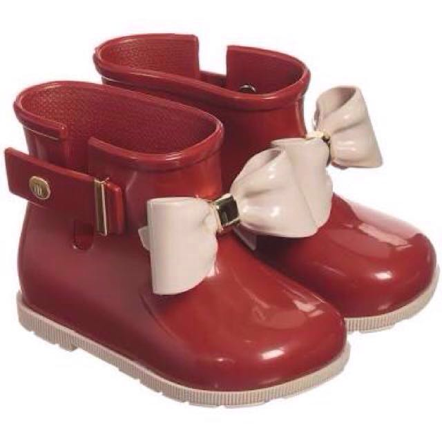 Melissa Red Boots with Bow