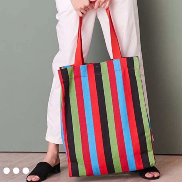 """[NEW - BNWT] - """"US Urban Outfitters"""" Multi-Colour Stripes Tote Bag"""