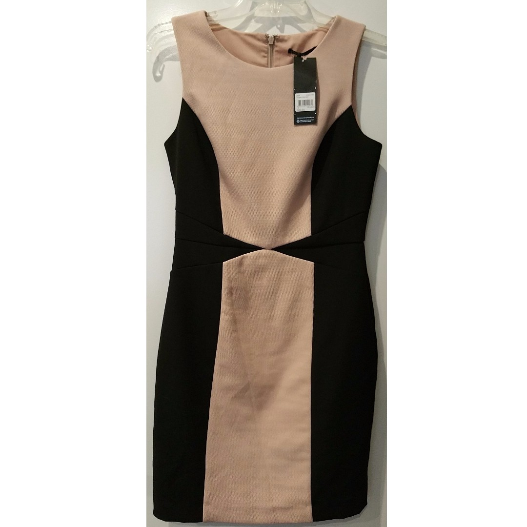 NEW Tokito Myer black and nude contour dress size 8