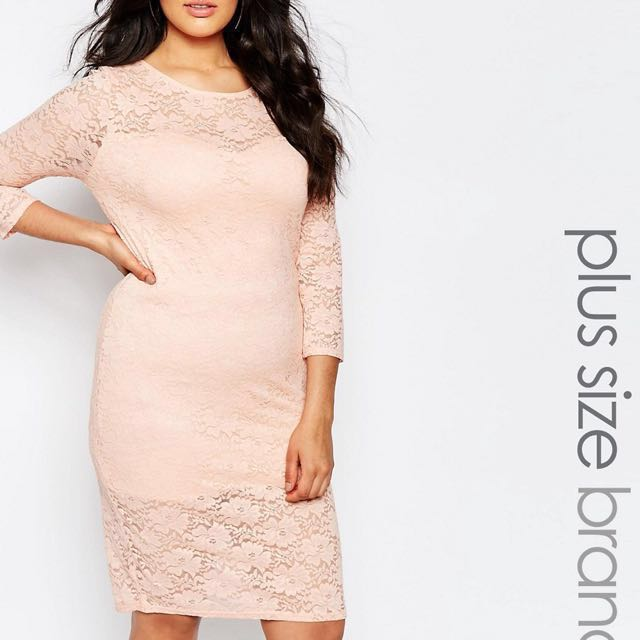 Nude Pink Plus Size Club L Dress Asos Womens Fashion Clothes