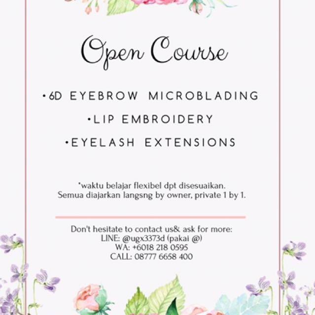 Open Class For Eyebrow, Lash & Lip