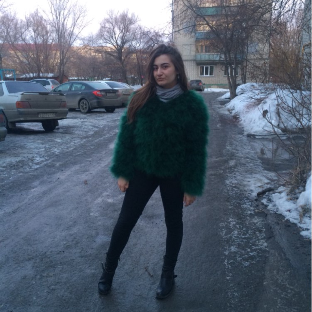 ostrich feather/fur coat