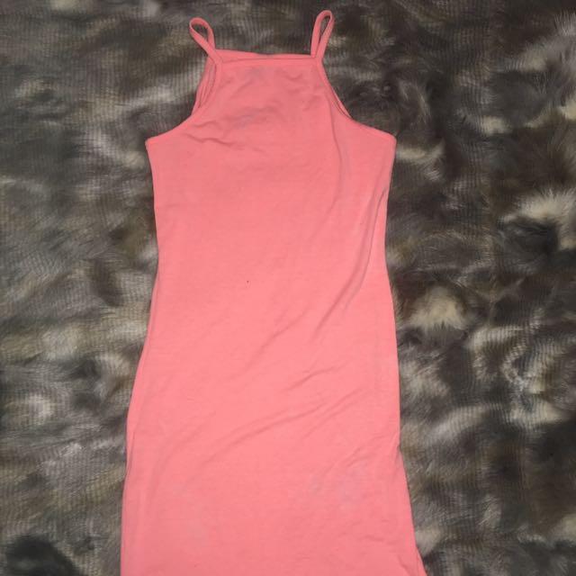 Peach cotton on dress size -xs