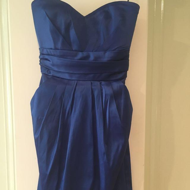 Pilgrim Blue Satin Dress Size 6