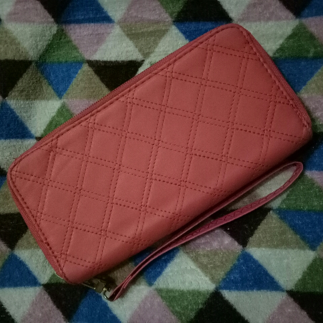 Pink Wallet With Handsling