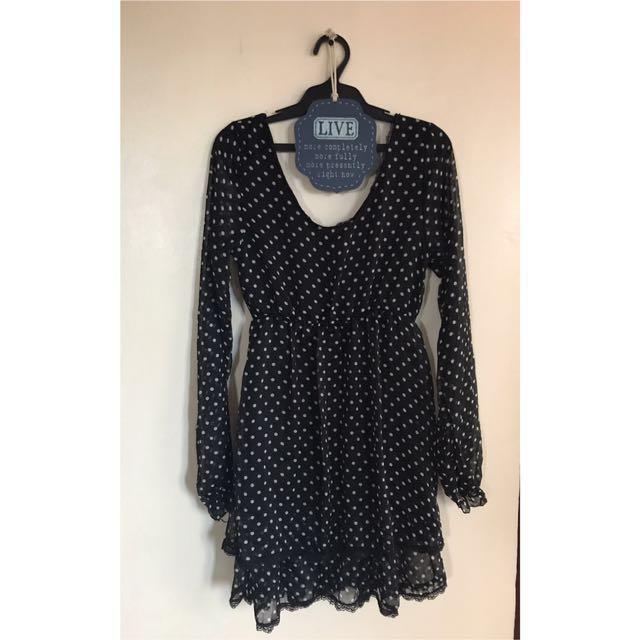 Preppy Black Dress