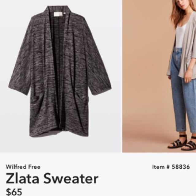 PRICE DROP Aritzia Wilfred Free Zlata
