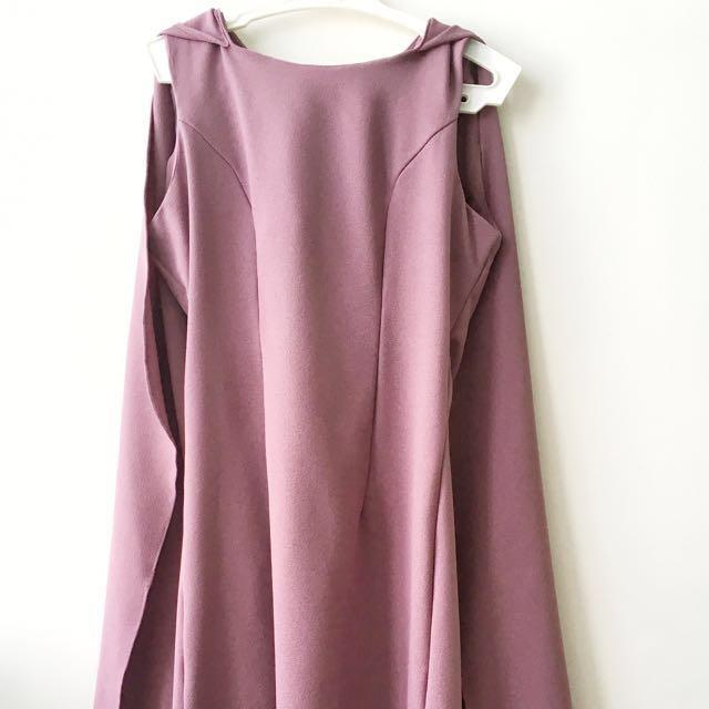 Purple CapeDress Custom Made
