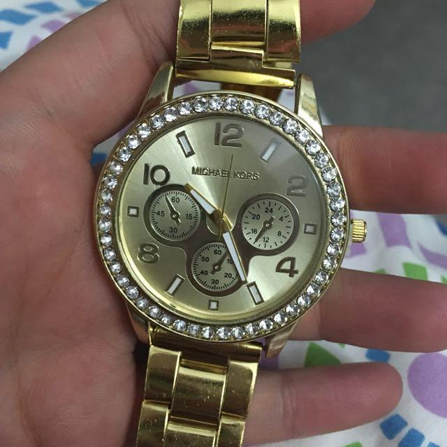 Replica Michael Kors Gold Watch