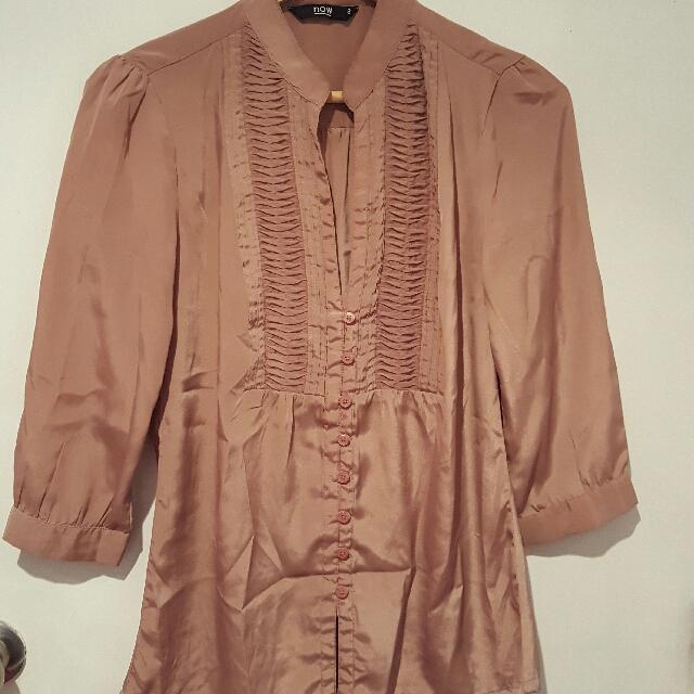 Satin blouse (size 8)