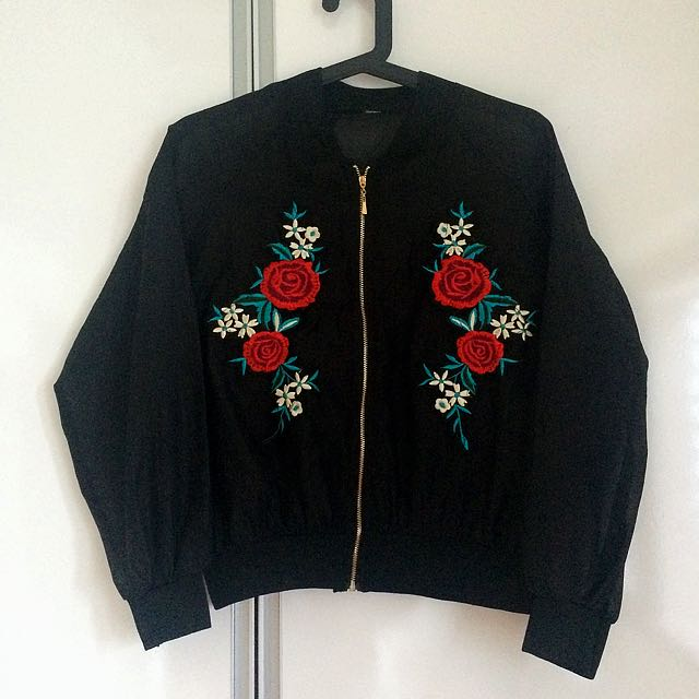 Sheer Prada Inspired Bomber Jacket