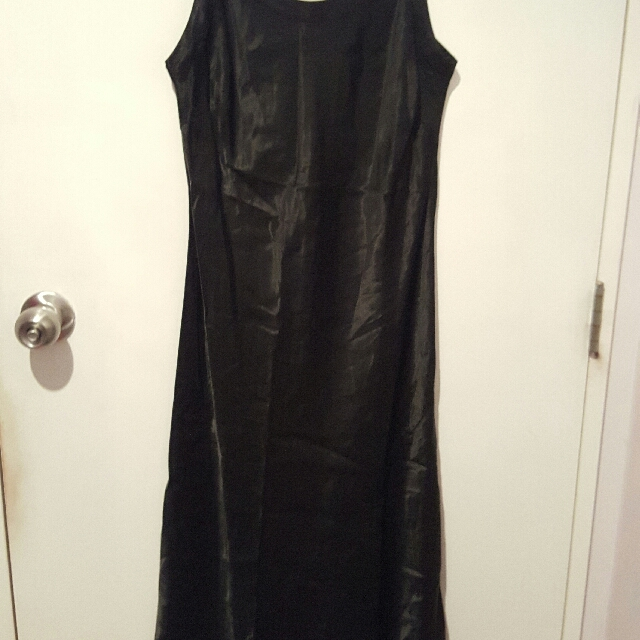 Silk slip dress (size small)