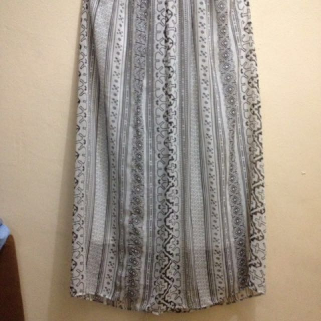 Skirt Blak And White