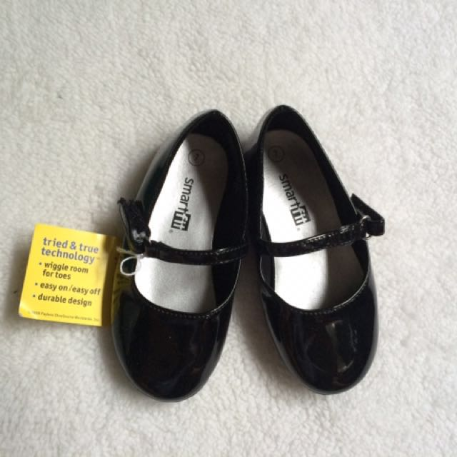Smart Fit Black Ballet Flats Baby Shoes