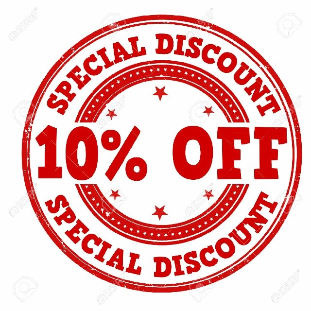 SPECIAL 10% OFF ON ALL ITEMS