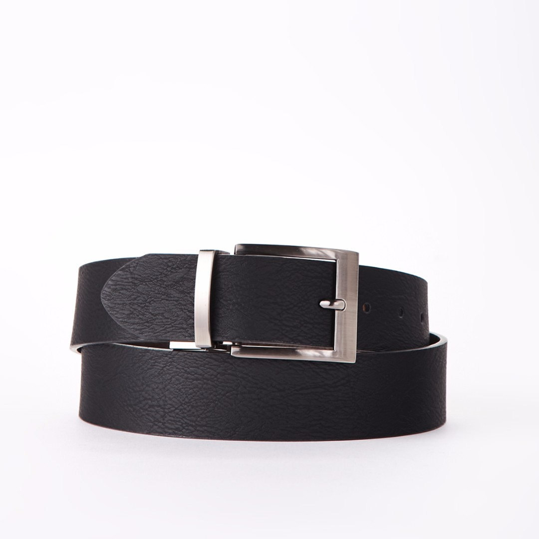 Square Buckle Distressed Belt