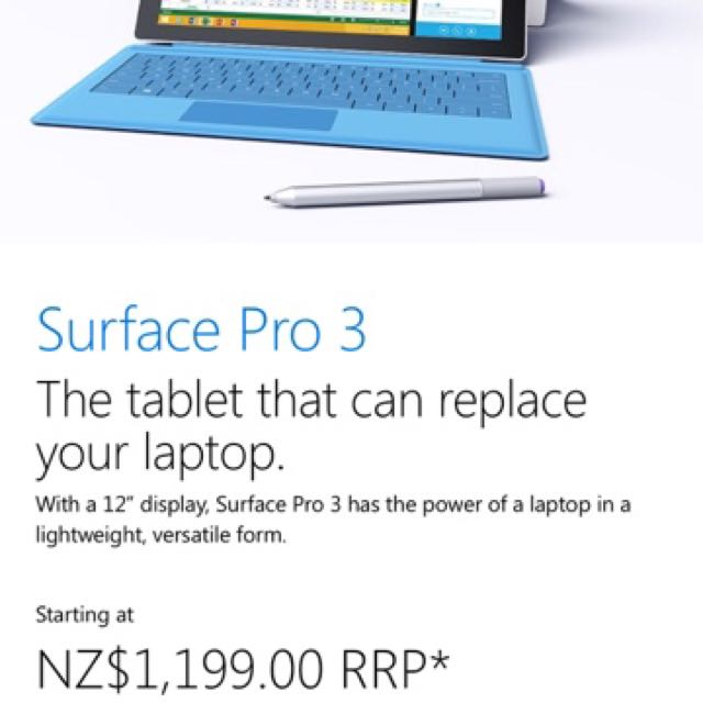 Surface pro Windows 8 128gb