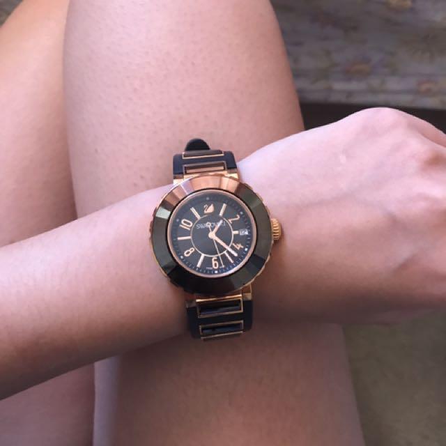 Swarovski Rose Gold Octea Sport watch