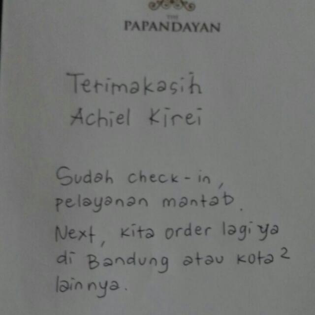 testii... the papandayan bdg