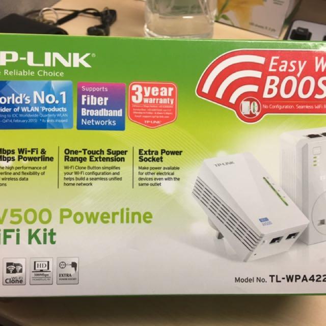 TP-link AV500 Powerline Wifi kit