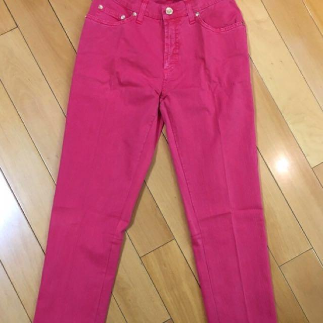 TRUSSADI 桃粉色九分純棉牛仔褲 Size:27*1&28*1