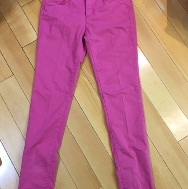 TRUSSADI 低腰桃粉色純棉牛仔長褲 Size:29