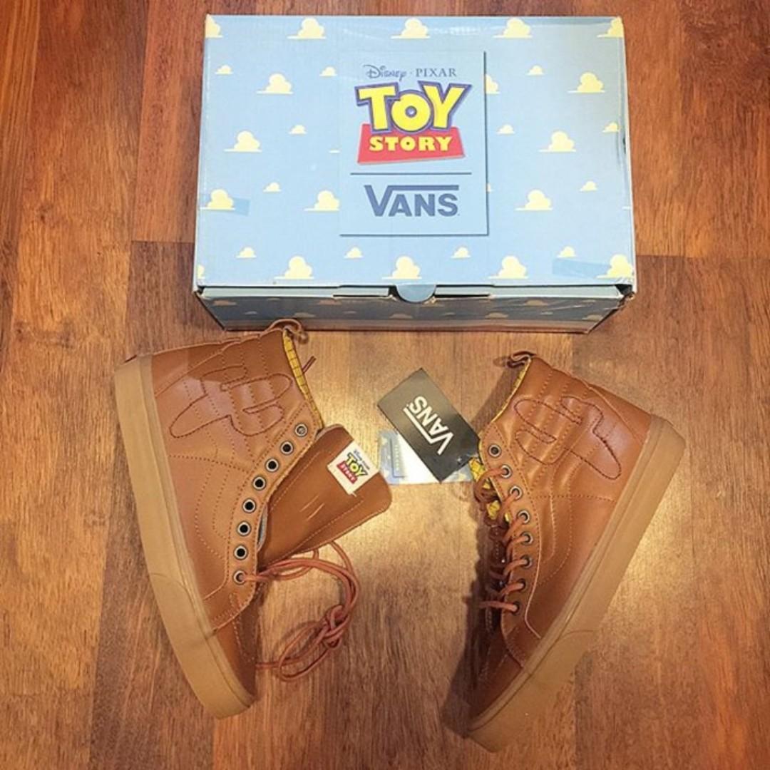 Vans sk8 hi x Toy Story Woody Brown Leather