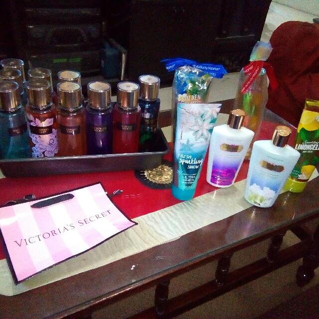 Victoria Secret (lotion&perfume), Bath&body Works (body cream)