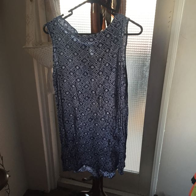 Vintage Blue Dress Size 12 (but Would Fit 8)