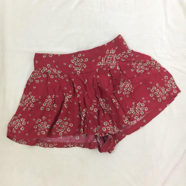Xhilaration Maroon Boho Shorts