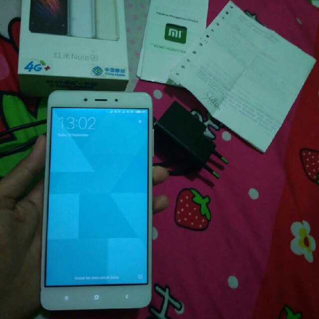 Xiaomi Redmi Note4 Fullset Mulus