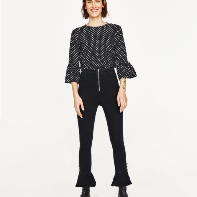 Zara Polka Dots Top Small Used Once Like New