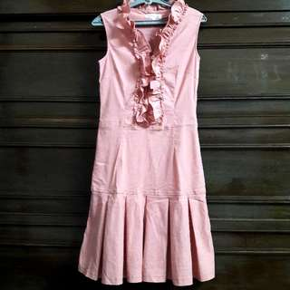 Salmon Ruffled Dress