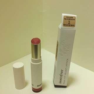 唇膏innisfree real fit velvet lipstick