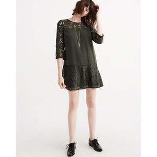 Abercrombie & Fitch Women's Lace Statement Dress