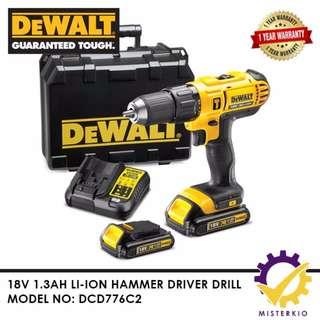 DEWALT 18V HAMMER DRILL DRIVER 1.3AH - DCD776C2-B1