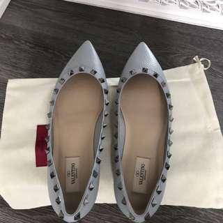 Valentino Rockstud Ballerina Flats Size 40