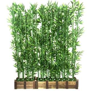 Synthetic Bamboo Display / Garden Theme Wedding