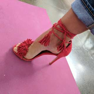 Fringe Steve Madden Red Heels Size 7