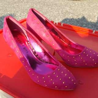 Madden Girl Pink & Gold heels