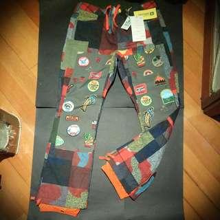 New LAMB X BURTON Buju Cargo Pants, Camo Plaid, Size M