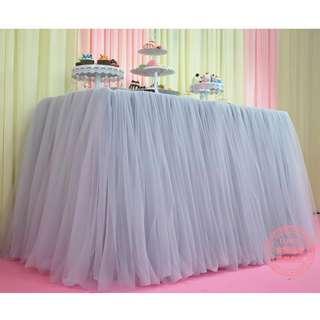 Cloud Tulle Table Skirting / Tutu Skirting
