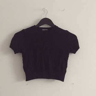American Apparel Mock Neck Crop